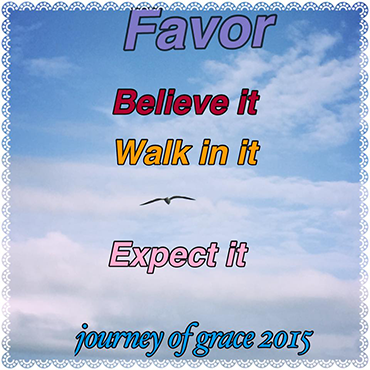 Favor; Believe It; Walk In It; Expect It; Journey of Grace 2015