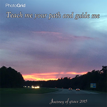 Teach Me Your Path and Guide Me; Journey of Grace 2015